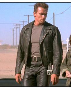 terminator leather jacket front