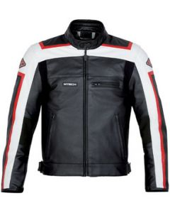 Mens Hand-made Padded Racing Biker Leather Jacket