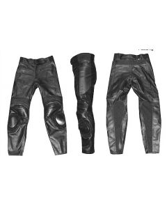 Mens Custom-made Padded Racing Biker Leather Trouser