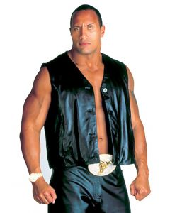 dwayne johnson leather vest front