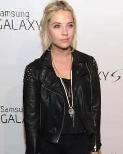 Ashley Benson jacket front