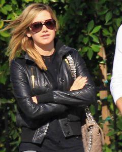 Ashley Tisdale bomber jacket front