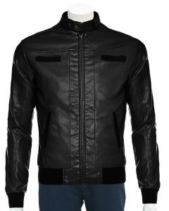 men black bomber jacket front