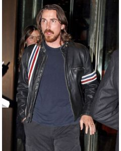 christian bale leather jacket front