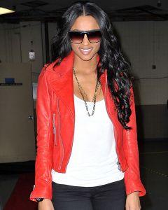 Ciara red jacket