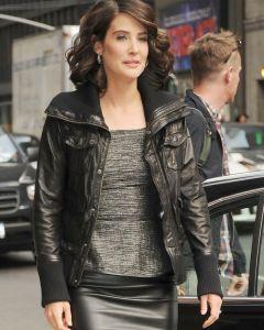 Cobie Smulders bomber jacket front