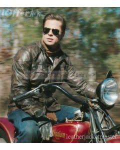 brad pitt brown jacket front