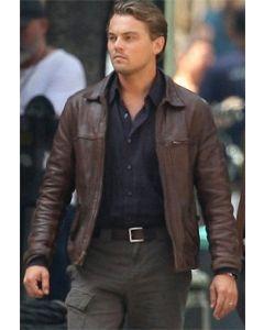 leonardo dicaprio leather jacket front