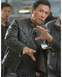 donnie yen leather jacket front