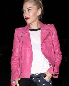 Gwen Stefani pink jacket front