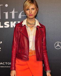 Karolina Kurkova red jacket