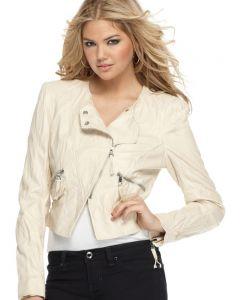 Kate Upton beige jacket front