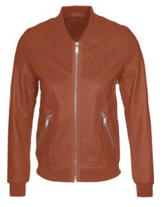 women tan jacket front