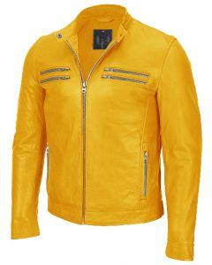 men yellow jacket front
