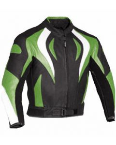 Mens Custom-made Fire Style Padded Biker Racing Leather Jacket