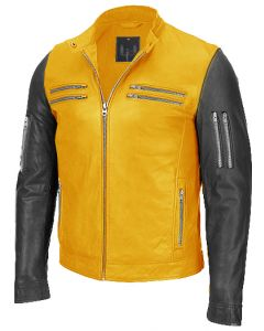 men black and yellow jacket front
