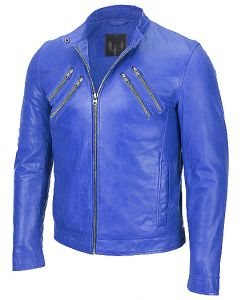 men blue jacket front