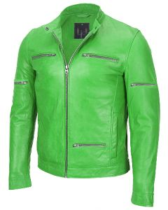 men parrot green jacket front