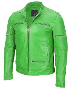 men parrot green jacket front