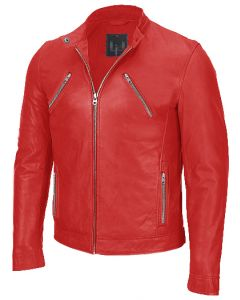 men red jacket front