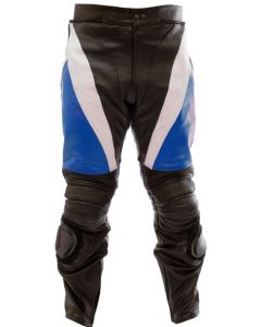 Mens Hand-made Padded Racing Biker Leather Trouser