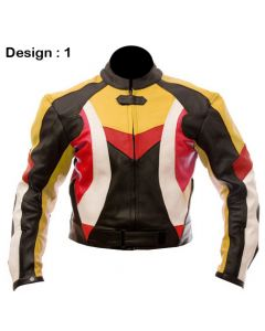 Mens Custom-made Padded Biker Racing Leather Jacket