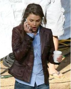 keri russell leather jacket front