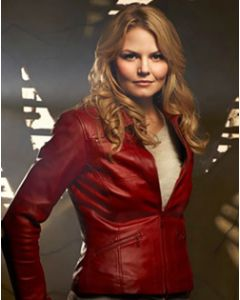 jennifer morrison red leather jacket front