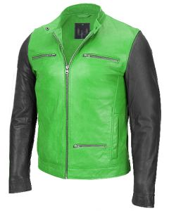 men black and green jacket front