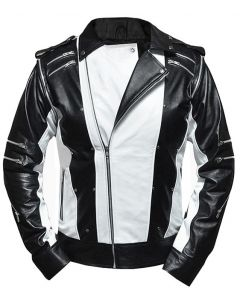 michael jackson leather jacket front