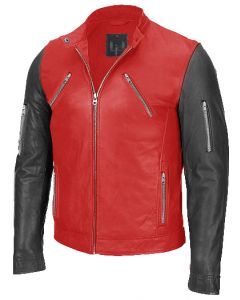 men black and red jacket front