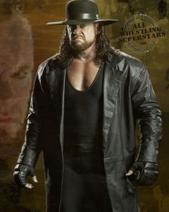 undertaker's leather coat