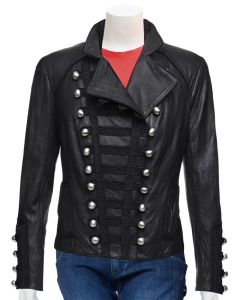 ladies black jacket front