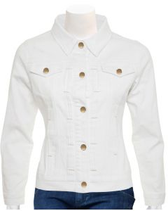 womens white leather jacket front